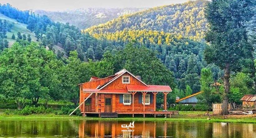 روستای استخرگاه ، روستایی چهار فصل در دامنه کوهستان