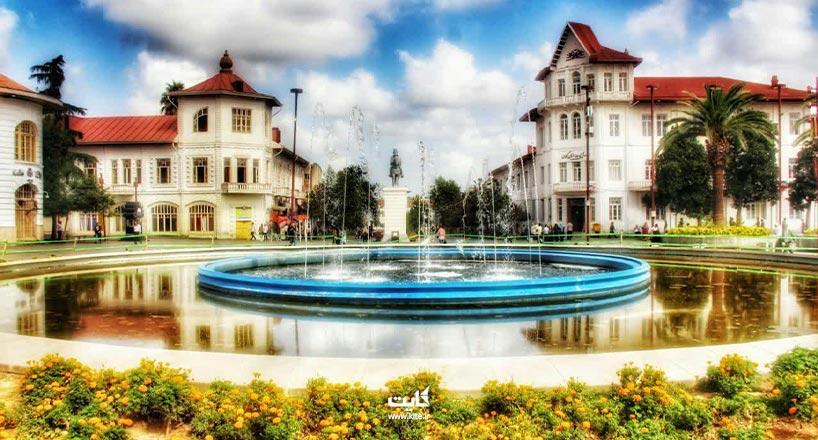 میدان شهرداری رشت زیباترین میدان شهری ایران