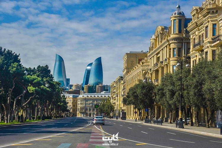 راهنمای سفر زمینی به باکو