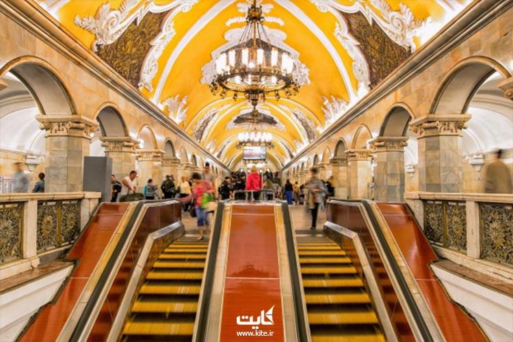 زیبا ترین ایستگاه های مترو مسکو که موزه هست