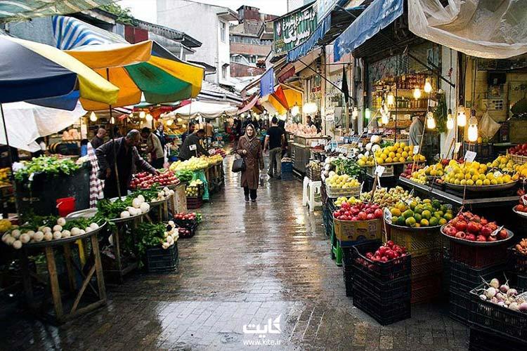 بازار-سنتی-در-نزدیکی-میدان-شهرداری-رشت