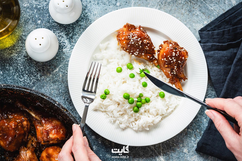 برنج-و-مرغ-سرخ-شده-(Roasted-Chicken-Rice)