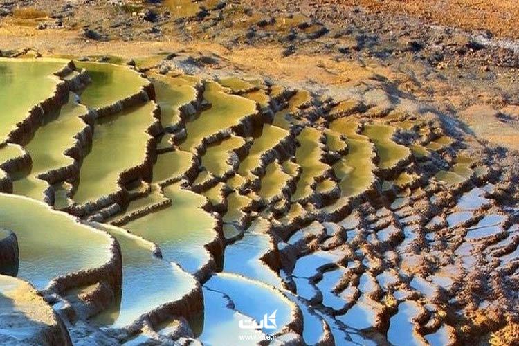 حوضچههای رنگارنگی که در تور باداب سورت خواهید دید