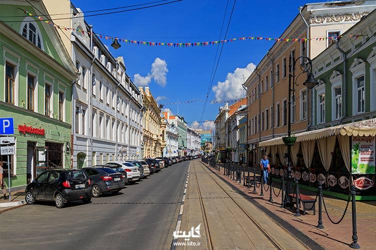 خیابان-روژدستونسکایا-در-نیژنی-نووگورود-روسیه