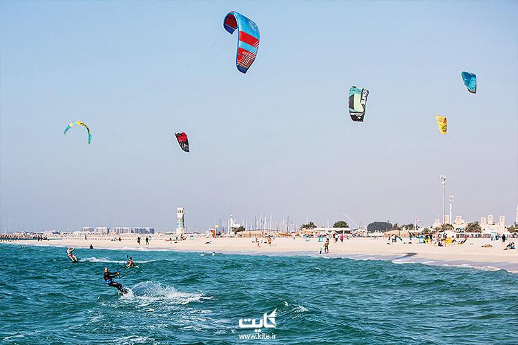 تزریق آرامش در ساحل کایت دبی