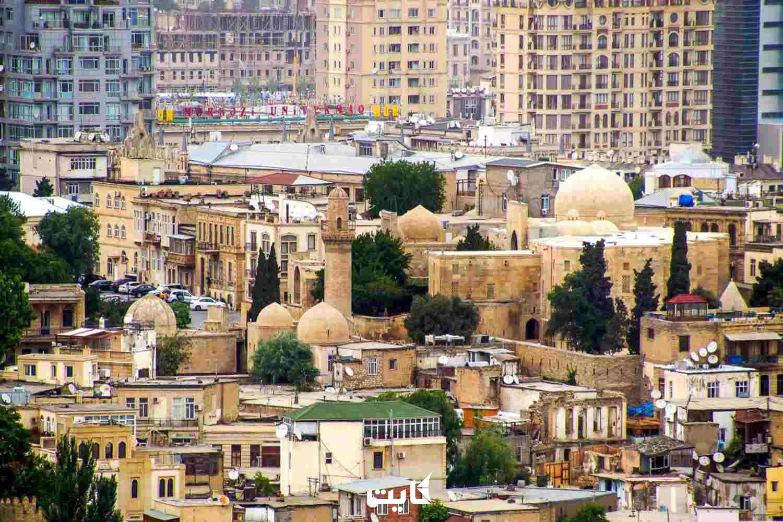ساختمان های شهر باکو آذربایجان