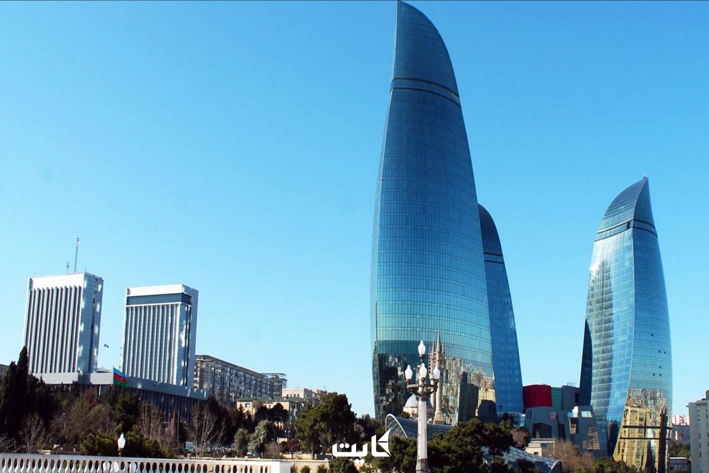 برجهای شعله باکو آذربایجان