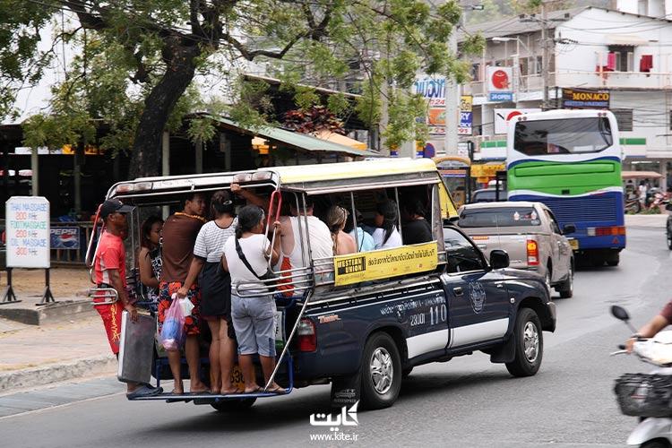 سانگتو-از-وسایل-حملونقل-در-پاتایا