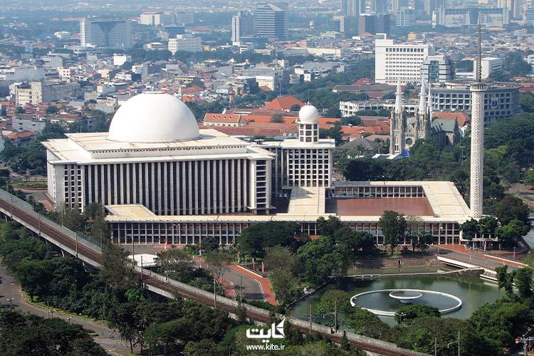 مسجد-استقلال-از-جذابترین-مساجد-اندونزی