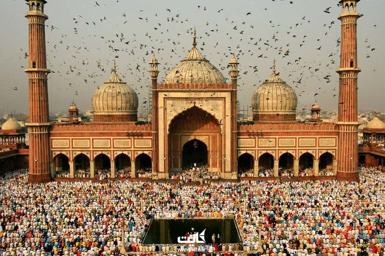 مسجد-جامع-دهلی-از-بزرگترین-مساجد-جهان