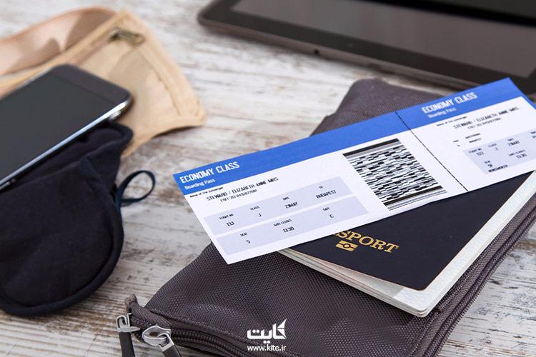 نمایی-از-بلیط-چارتری-و-پاسپورت