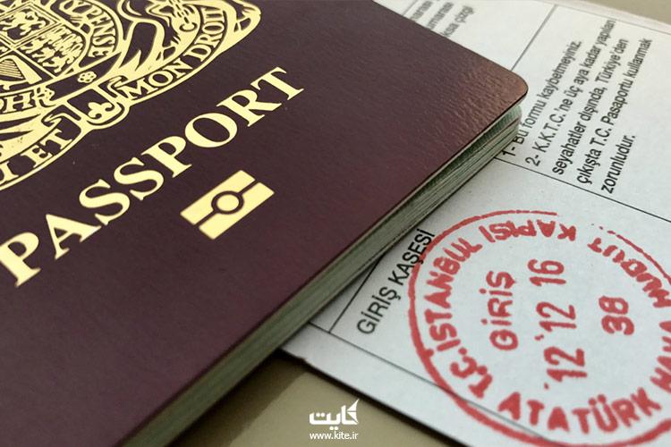 نمایی-از-پاسپورت-و-مهر-ویزا