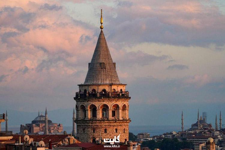 نمای-بیرونیِ-برج-گالاتای-استانبول