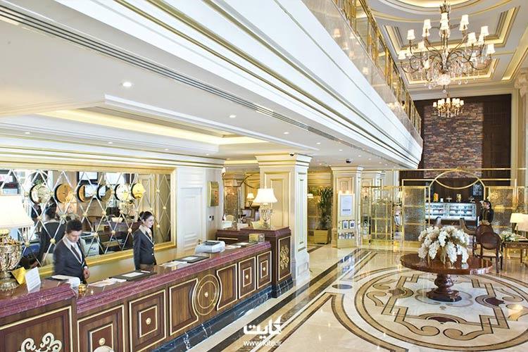 محوطه پذیرش هتل هالدی