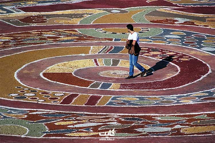 بزرگترین فرش خاکی جهان