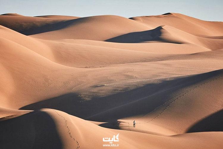 کویر ریگ جن از بزرگ ترین کویرهای ایران