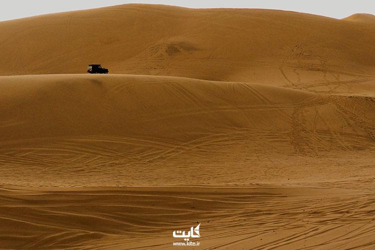 سفر به کویر مرنجاب با وسیله نقلیه شخصی