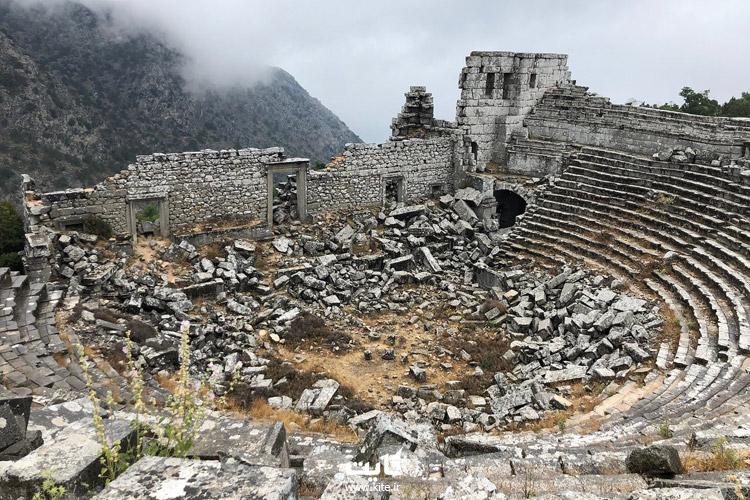 جاذبههای دیدنی شهر باستانی ترمسوس آنتالیا