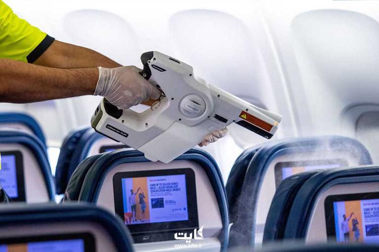 ضدعفونی کردن سطوح مختلف فرودگاه و هواپیما