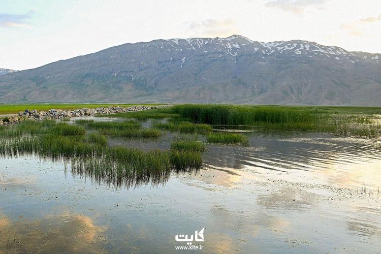 تالاب گندمان در استان چهارمحال و بختیاری