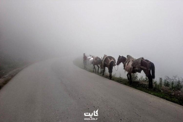 مسیر دسترسی به روستای فیلبند