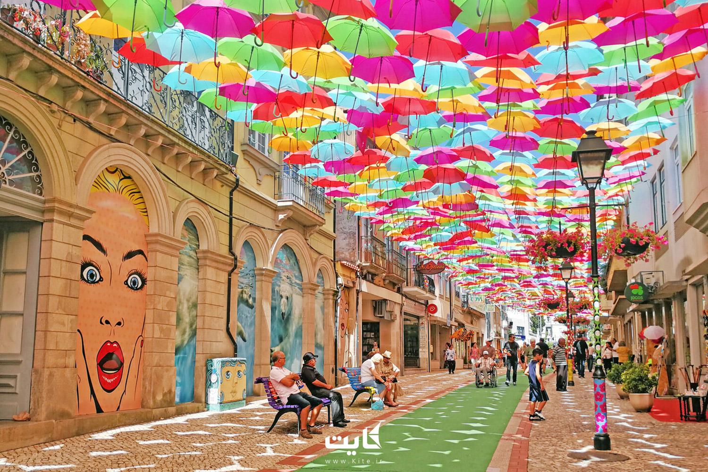 خیابانهای شهر آگوئدا (Agueda) در پرتغال