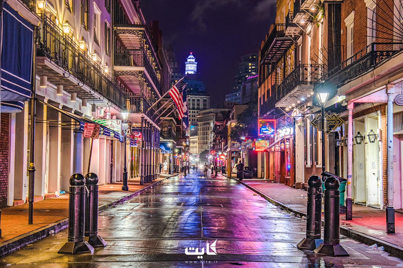 خیابان بوربون (Bourbon) در شهر نیو اورلئان