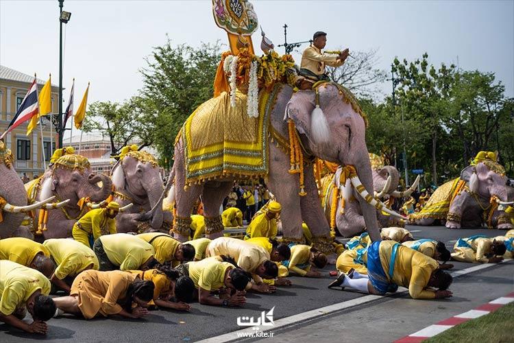 تاجگذاری پادشاه تایلند