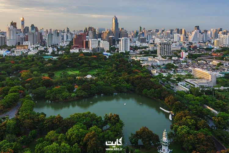 نمای از بالا پارک لومپینی بانکوک