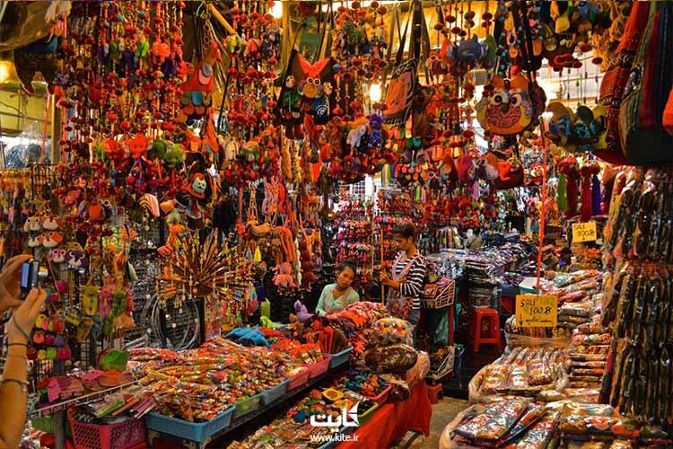 غرفه فروش پوشاک جمعه بازار بانکوک