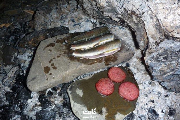 آشپزی در طبیعت به کمک سنگ