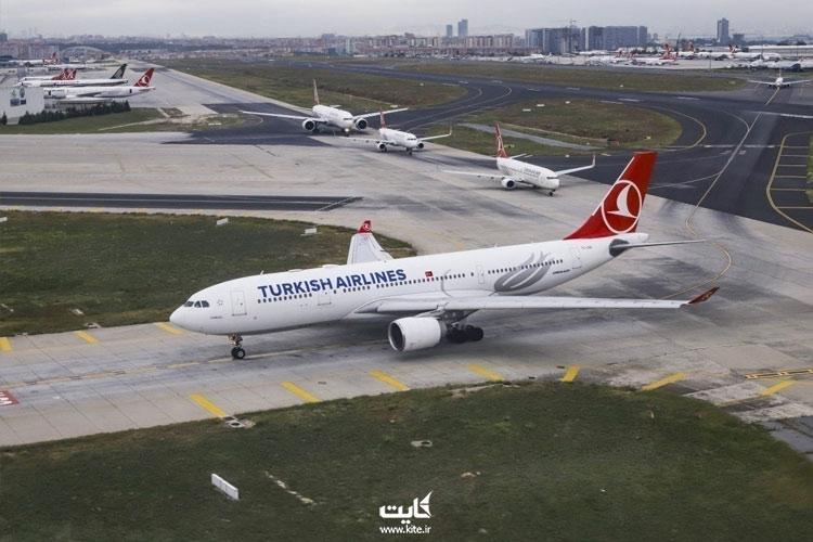 کنسل شدن پرواز ترکیش به دلیل کرونا