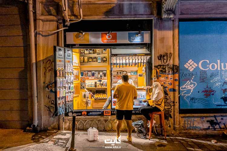 خرید سیم کارتهای توریستی از فروشگاهها در استانبول