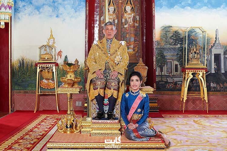 پادشاه تایلند و همسر دومش