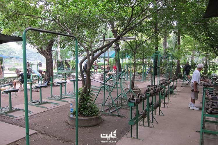 وسایل ورزشی پارک لومپینی بانکوک