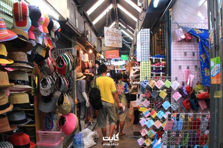 غرفه فروش کلاه جمعه بازار بانکوک