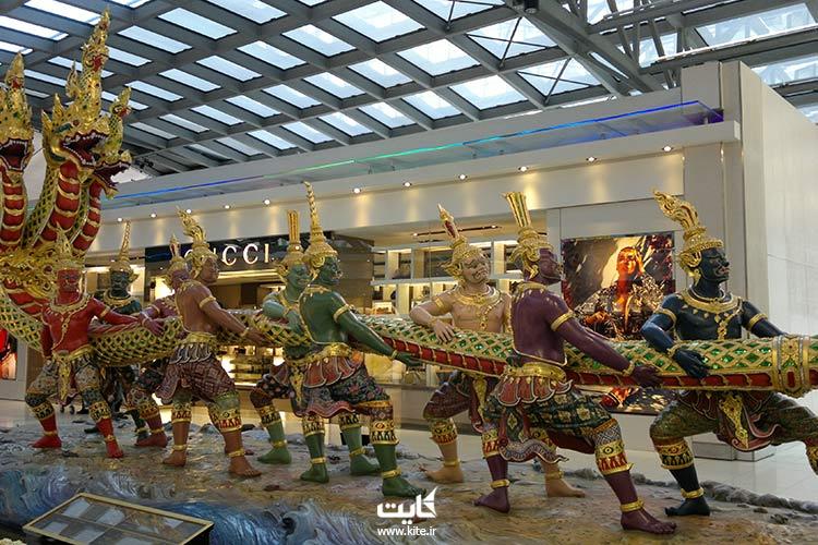 دکورهای داخلی فرودگاه بانکوک