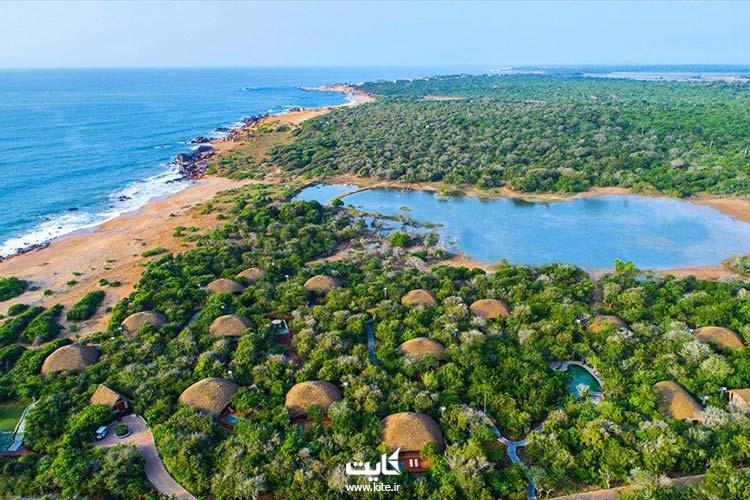 نمایی از بالای کشور سریلانکا