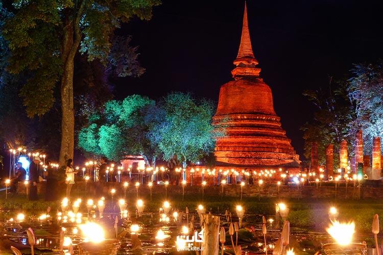 نمایی از جشن فانوس تایلند