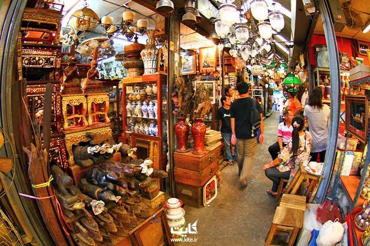 عتیقه فروشی جمعه بازار بانکوک