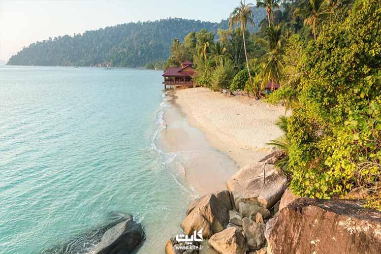 ساحل جزیره تایومان مالزی شرق آسیا