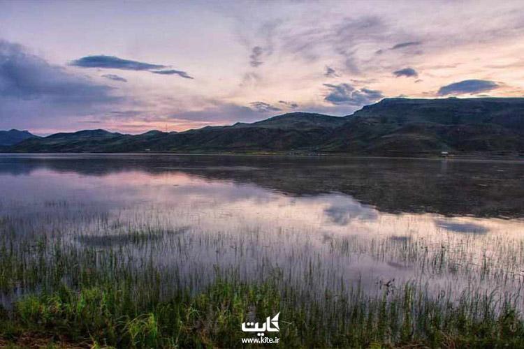 منظره زیبای دریاچه نئور