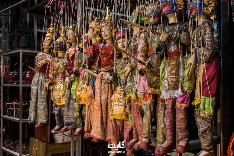 عروسکهای خیمه شب بازی جمعه بازار بانکوک