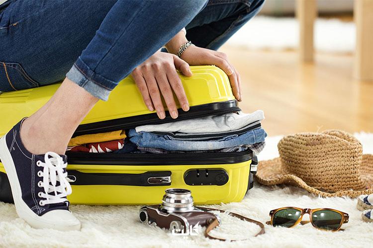 بستن چمدان برای کویر