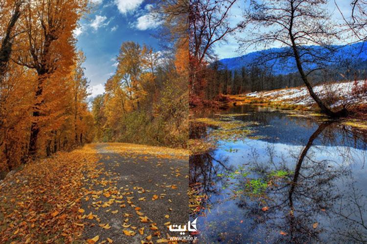 دریاچه و جاده الندان ساری