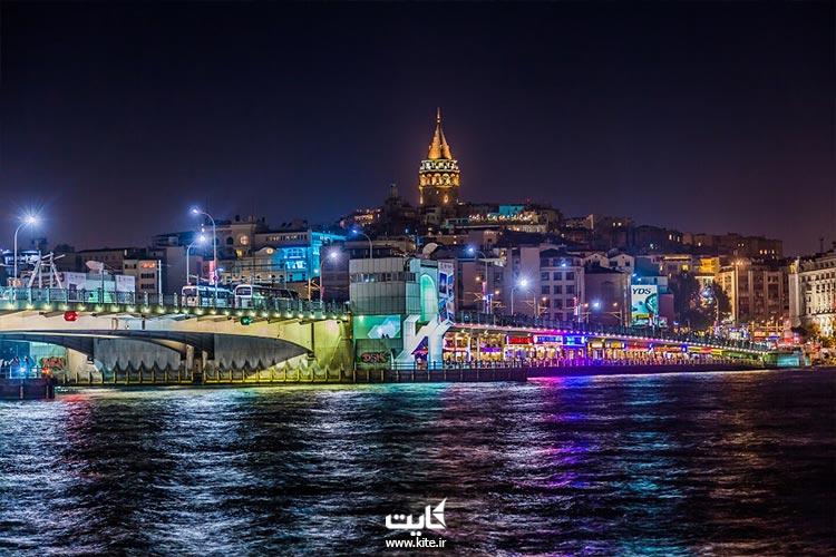 تور کشتی های کروز استانبول در شب