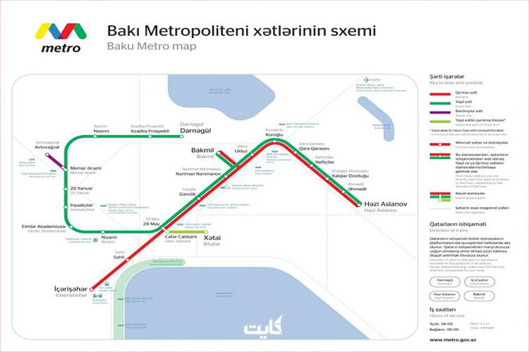 نقشه مترو باکو