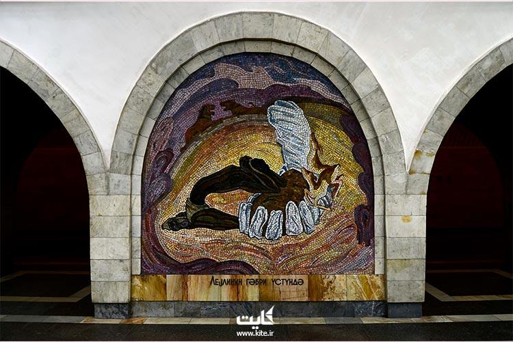 دیوارنگاری در متروی باکو