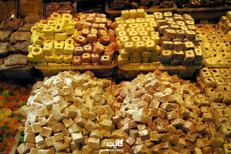 خوراکیهای موجود در بازار بزرگ استانبول