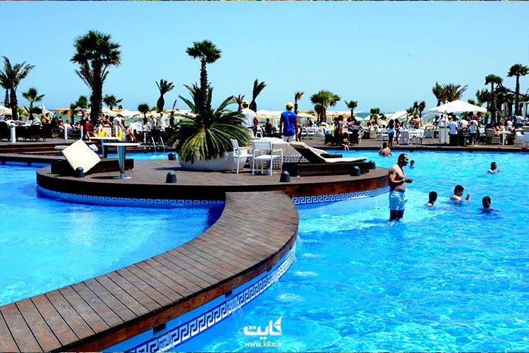 Amburan Beach Club کلوپ ساحلی آمبوران یکی از بهترین سواحل باکو